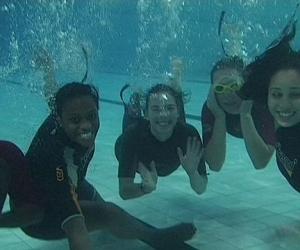 The teams underwater skills
